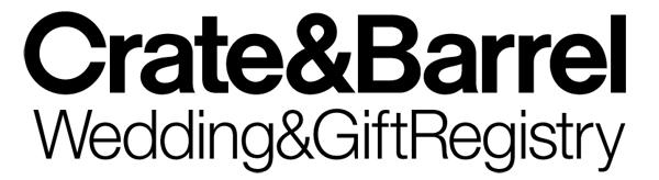 Crate & Barrel Wedding Gift logo
