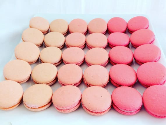 french macaron wedding favors