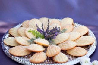 cookies with lavender in middle