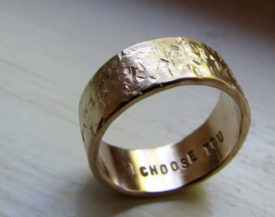 rustic distressed wedding band - Unusual Mens Wedding Rings