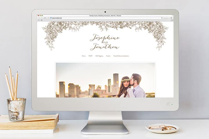 minted wedding website review with walkthrough