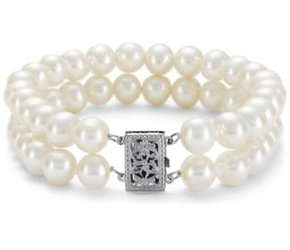 Cultured Pearl bracelet from Blue-nile