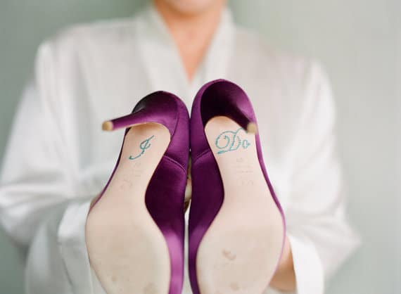 "wedding ""I Do"" stickers for shoe bottom"