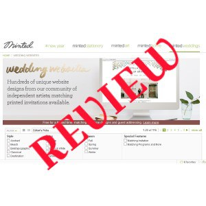 MINTED wedding website review