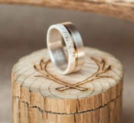 mens-wedding-band-elk-antler-ring-with-titanium