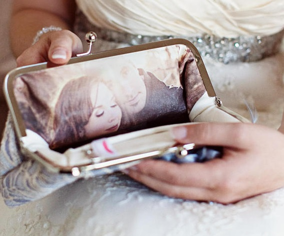 custom bridal clutch
