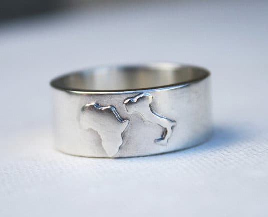 Charmant Custom Country Ring Customized Jewelry Unique Mens Wedding