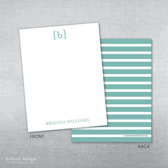 Personalized stationery for bride