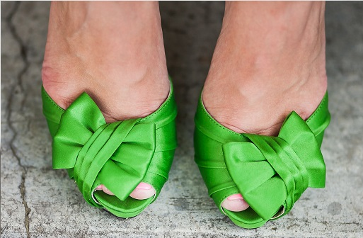 Forbes apple green bridal heel