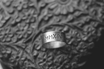 Roman Numeral Silver​​ Ring​​