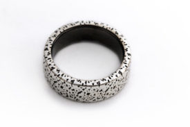 unique speckled texture ring