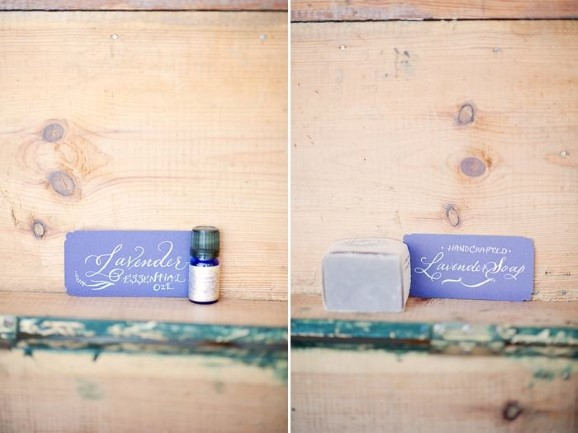 lavender oil and soap on wood background