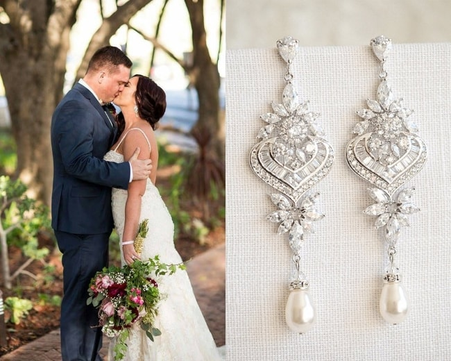 Bridal Chandelier Statement Earrings
