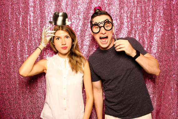 Candy Pink Sequin Photography Backdrop- Photo Booth Backdrop