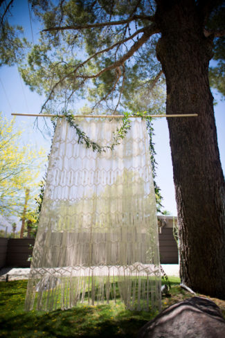 Macrame Wall Hang for a wedding ceremony backdrop