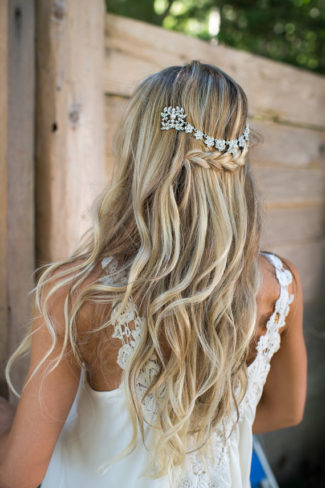 Draped brial Hair Comb