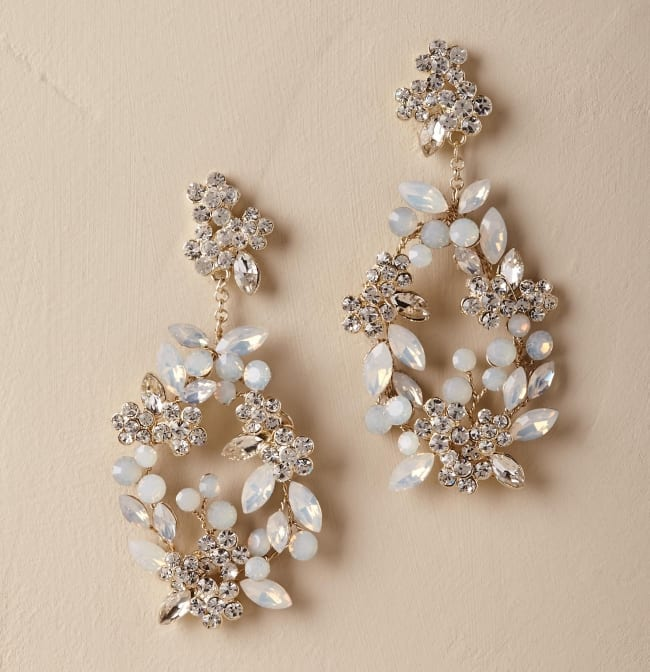 Kora Bridal Floral Chandelier Earrings BHLDN