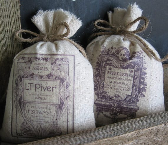 Lavender Sachets for bridesmaids