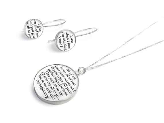 Personalized Jewelry with your Wedding Vows