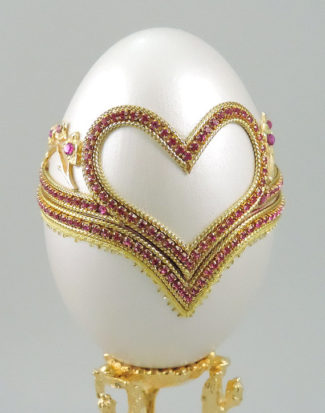 Pink Hearts of Love Engagement Ring Box faberge eggs