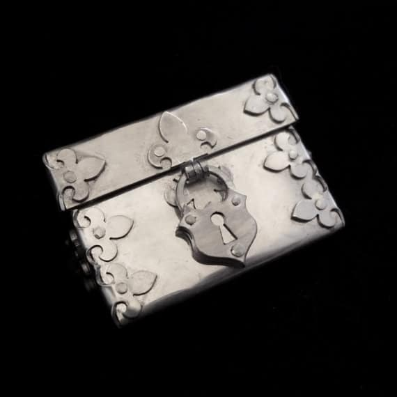 Sterling Silver Personalised Initial Ring Box