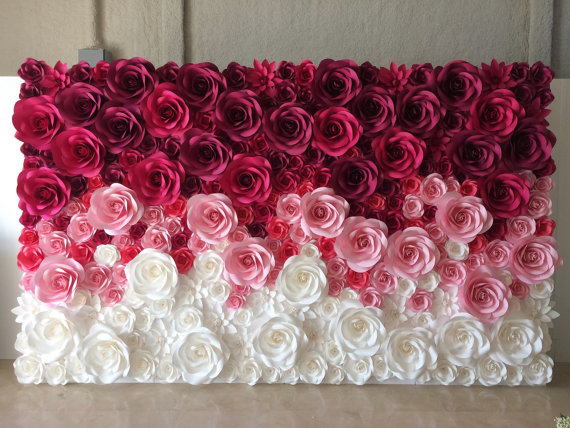 Wedding Backdrop – Large Paper Flowers – Paper Flower Backdrop