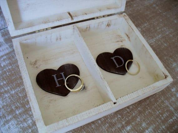 Wedding Ring Box Shabby Chic