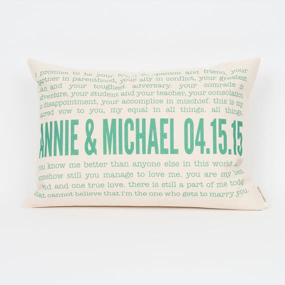 Wedding Vow Pillow