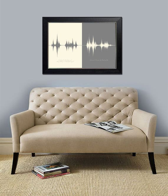 Wedding Vows Custom Sound Wave Art Print