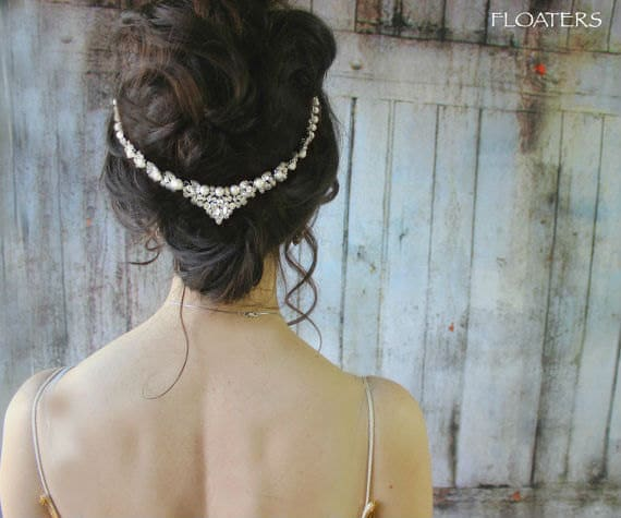 Wedding pearl browband