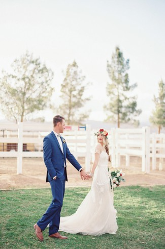 bride and groom at WHYRanch