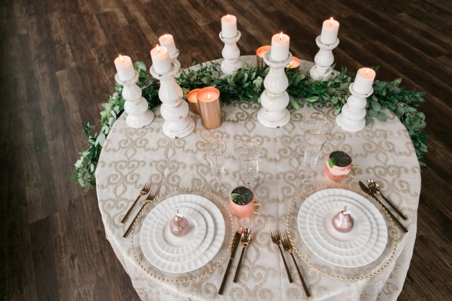 forest grove glam tablescape
