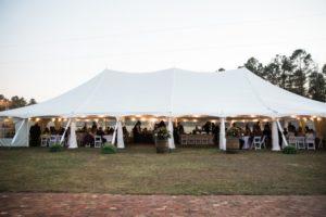 outdoor wedding marquee tent