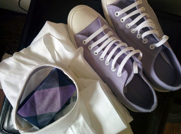 lavneder color Converse all-star sneakers