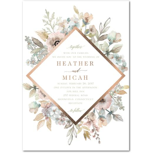 Diamond Blossoms Wedding InvitationsAloe