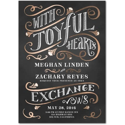 Flourishing Joy Wedding Invitations by Wedding Paper Divas