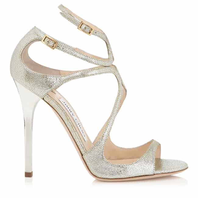 Lance - Champagne Glitter Leather Sandals