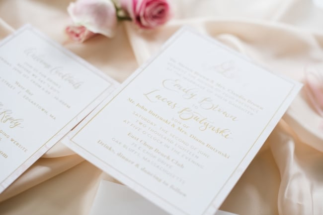 Luxury foil pressed invitation example