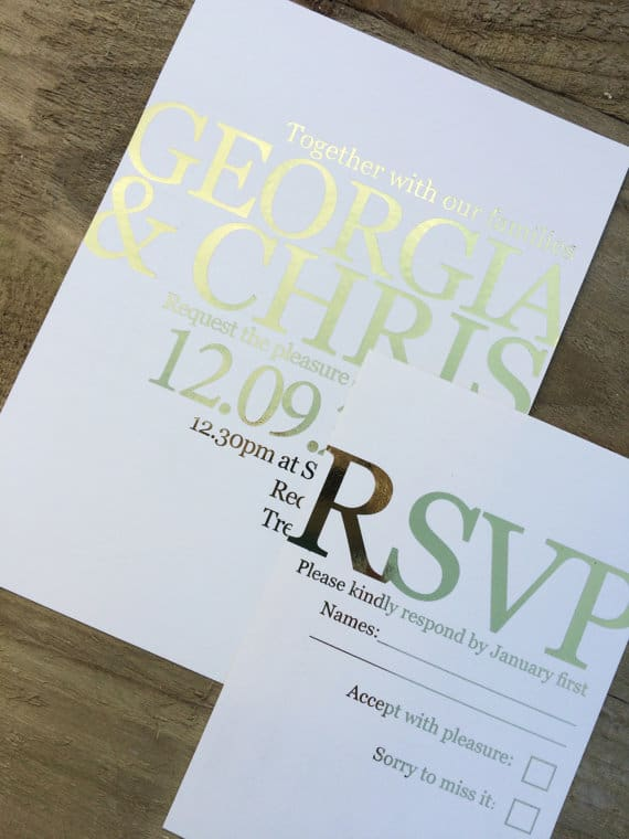 21 gorgeous gold foil printed wedding invitations