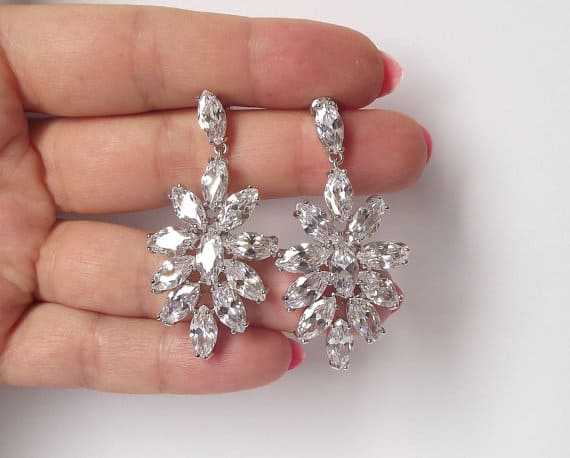 Rhinstone Chandeler Bridal Earrings