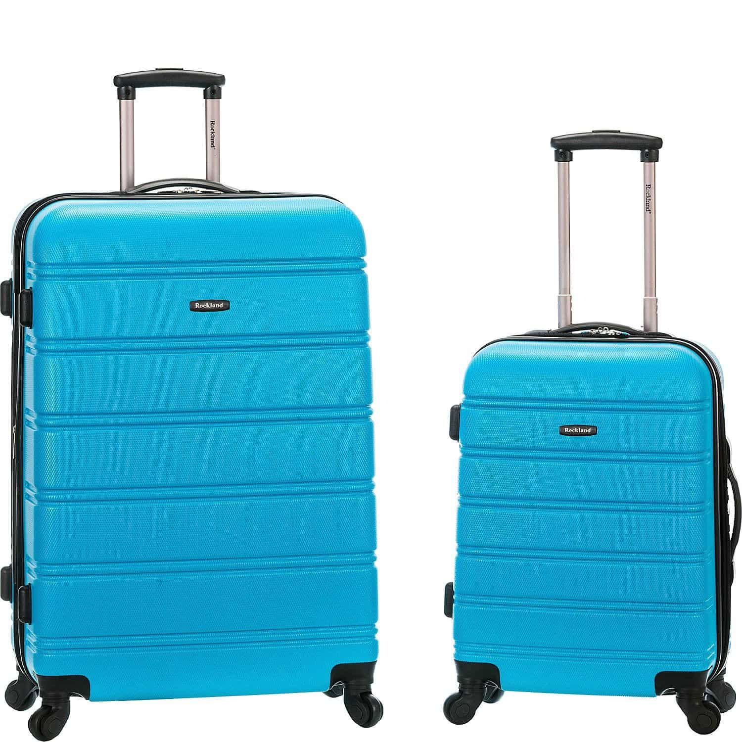 Rockland luggage in bright blue