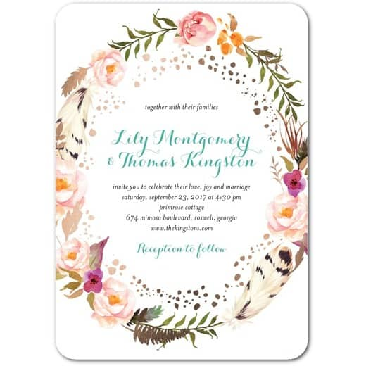Strung Floweret Wedding Invitations by wedding paper divas