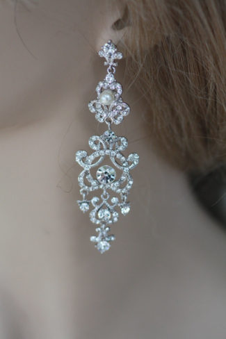 Swarovski Bridal chandalier Earrings