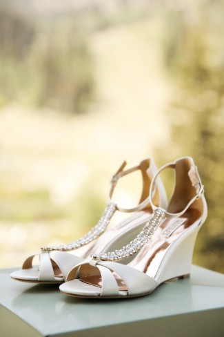 bridal heels with crystal strap
