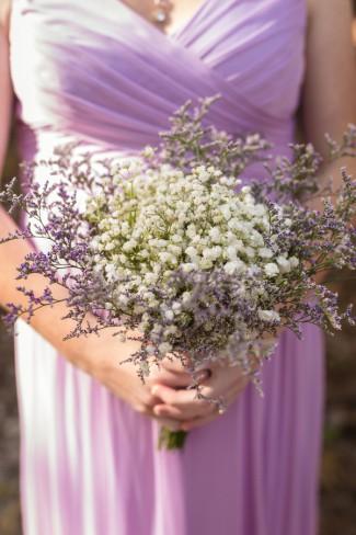 bridesmaid in light purple dress