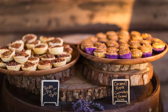 caramel apple cupcakes and pecan tarts