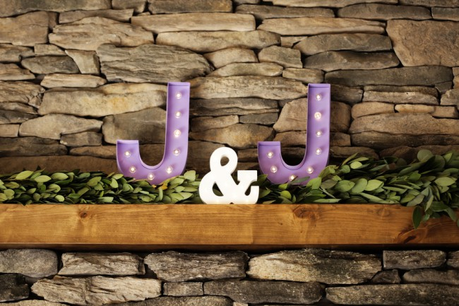 large lightup custom initial letters