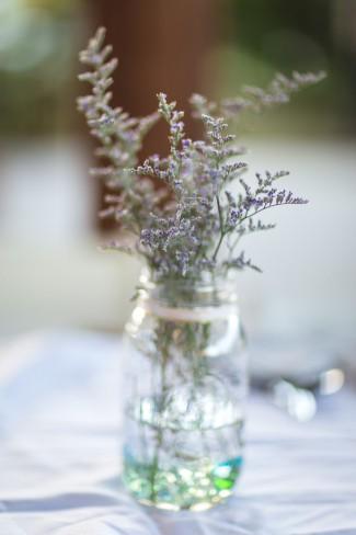 mason jar with sprigs