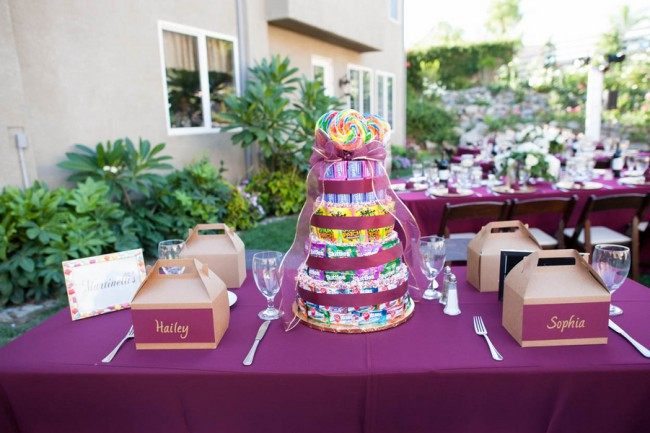 tiered candy cake