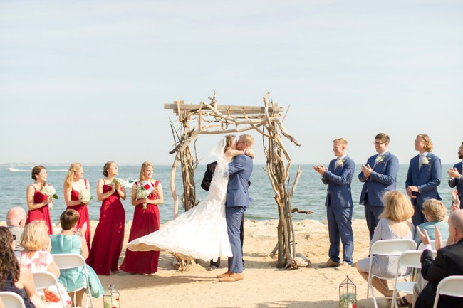 Wedding Ceremony On Beach At Cape Cod